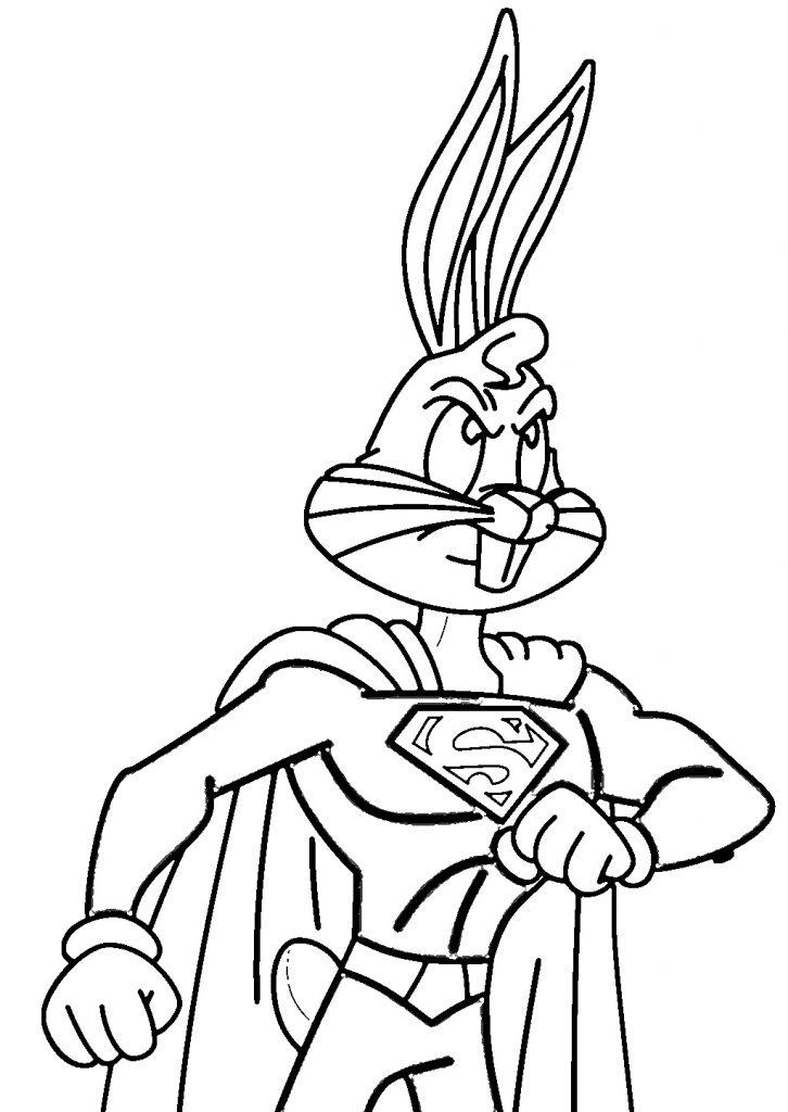 bugs bunny ausmalbilder zum drucken  super boyama kitabı