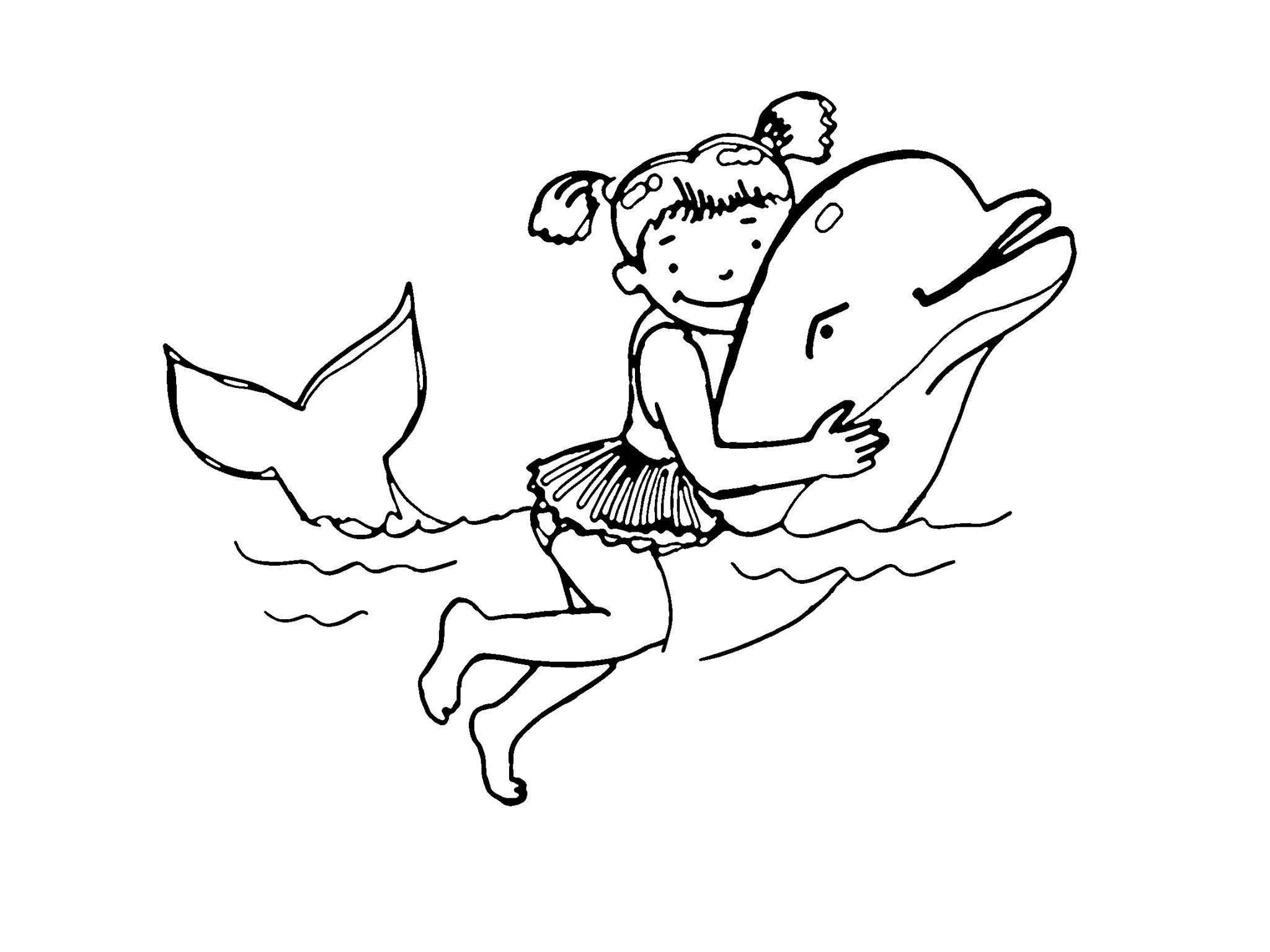 ausmalbilder delfine wale fische kostenlos  super