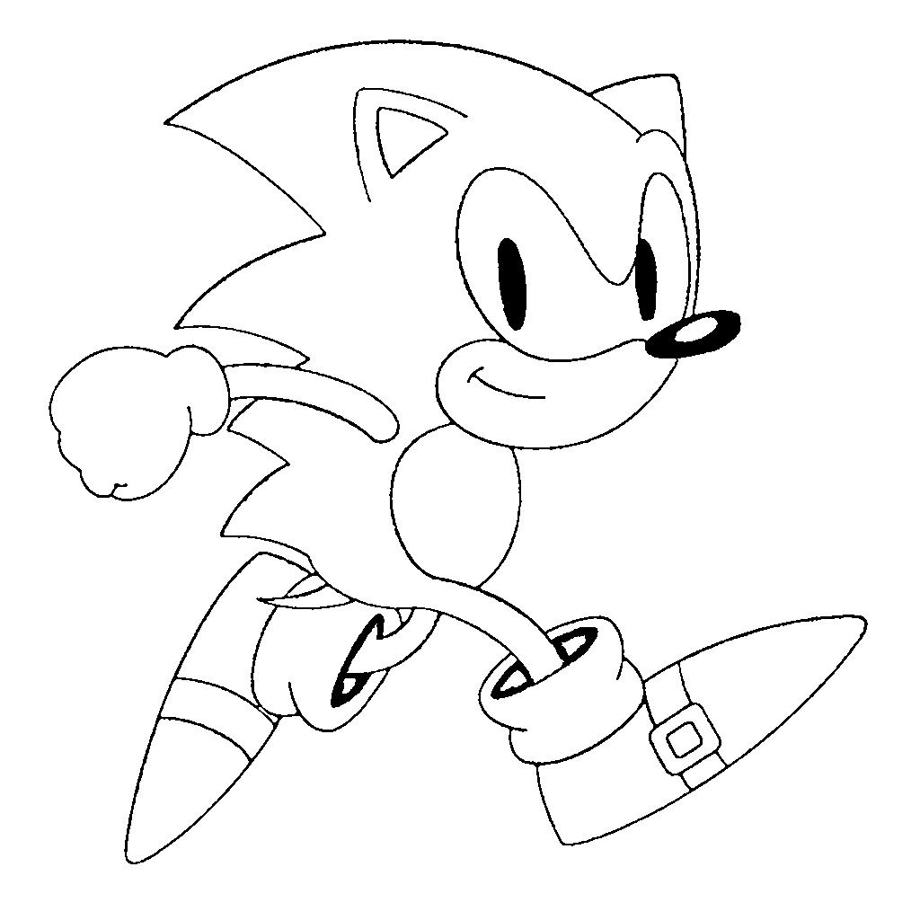 Ausmalbilder Sonic the Hedgehog ➣ Supercocuk.net