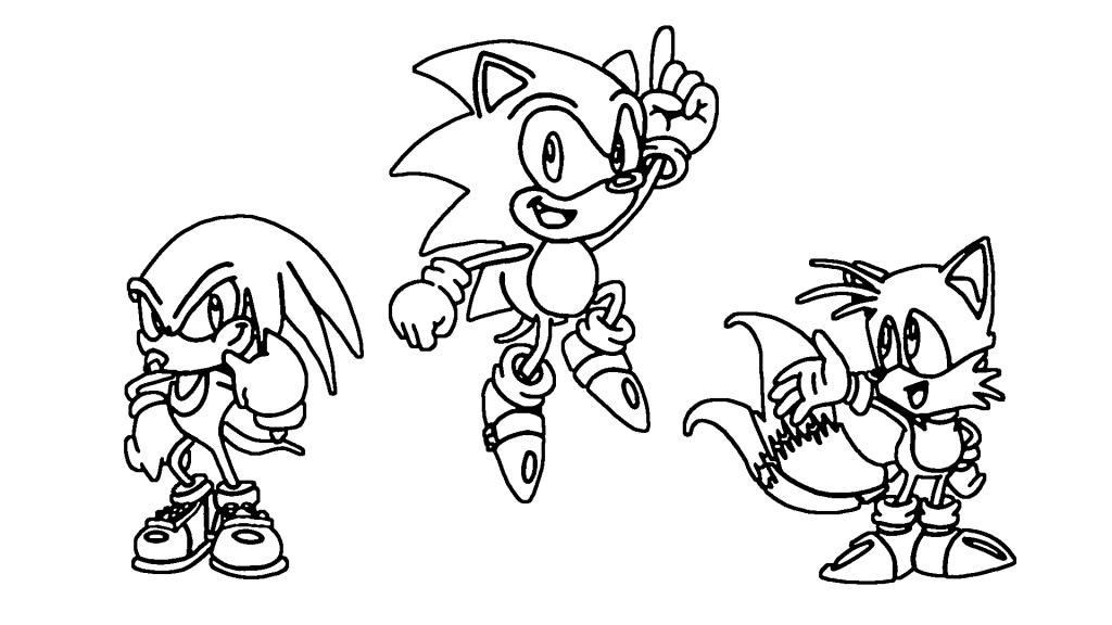 Sonic Boyama Sayfası Yazdırılabilir