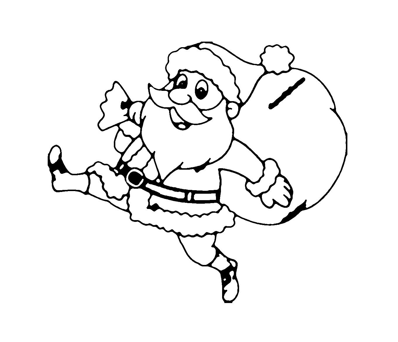 Ausmalbilder: Weihnachtsmann Zum Ausmalen ➜ Super Malvorlagen