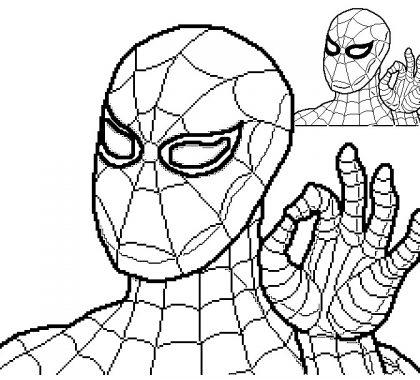Bedava Spiderman Boyama Sayfası