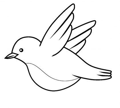 Kuş Boyama Sayfaları Yeni