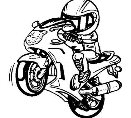 Motosiklet Boyama Kitabı Supercocuk