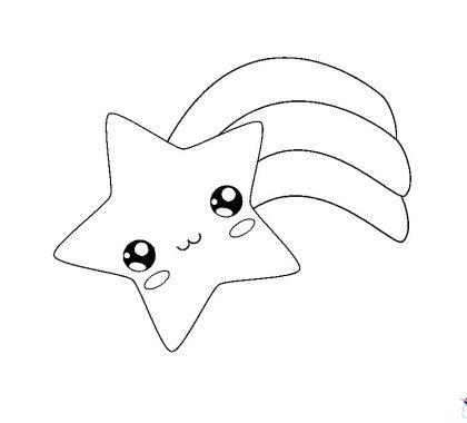 Yıldız Boyama Sayfası Çocuklar için